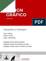 Design Gráfico - Tipografia aula