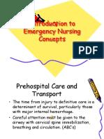 Introduction to Emergency Nursing