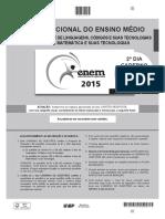 ENEM - 2015 - DIA 02 - CADERNO 13 - CINZA - GABARITO 2ª APLICAÇÃO.pdf