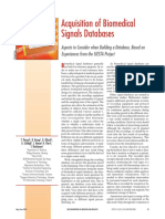 Acquisition of Biomedical Signals Databa