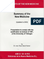 [Ryke Geerd Hamer] Summary of the New Medicine