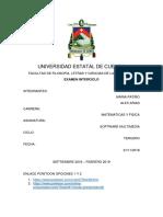 Examen Inteciclo Patiño - Arias