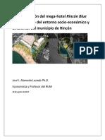Estudio en Contraposicion a Hotel Rincon Blue Water por Dr. Jose Alameda (20 Agosto 2019)
