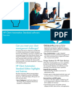 HP Client Automation Standard Software Datasheet