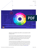 Guide to Premiere Pro Color Correction