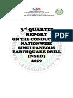 Hes II-national Simultaneous Earthquake Drill 3rd Quarter 2019