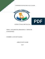 Analisis de Armadura y Tipos de Conexiones