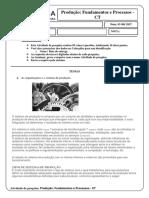 Atividade de Pesquisa - Produção Fundamentos e Processos