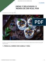 Caprichos Saludables_ 5 Postres Con Menos de 200 Calorías Por Porción
