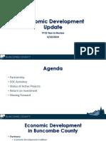 Buncombe County Board of Commissioners, economic development update, Aug. 20, 2019