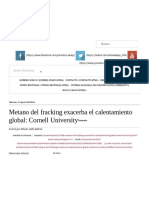 Metano Del Fracking Exacerba El Calentamiento Global_ Cornell University