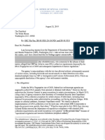 Office of Special Counsel letter to the White House on CBP