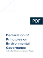 CAR Declaration of Principles on Environmental Governance