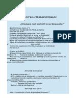 Proiect Activitate Integrată -Ciucă Irina Gr.ii 3334