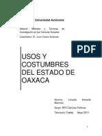 Usos y costumbres en el estado de Oaxaca
