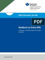 Handbuch zur Erste Hilfe in Bildungs- und Betreuungseinrichtungen fÅr Kinder