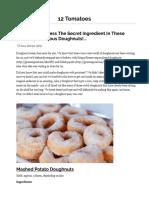 Secret Ingredient Delicious Doughnuts!... - 12 Tomatoes