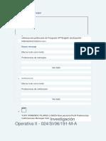Práctica Calificada 1.1 Investigacion Operativa II
