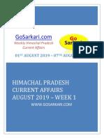HP Current Affairs August 2019 WEEK 1