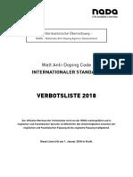 2018 Prohibited List German