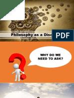 Philo Lesson 1 Philosophy as Discipline