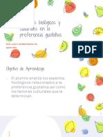 Factores biológicos y culturales en la preferencia gustativa