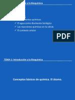 U1.- Introducción a La Bioquímica