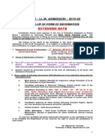 Notice Ll.m. Admission 2019 20 Form of Information First Extended Date