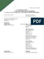Buczek 20101109 Docket Report 121