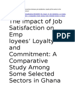 Understanding the Connections Between Job Satisfaction