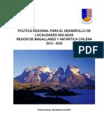 Politica Regional Desarrollo Localidades Aisladas