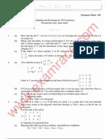 IAS Mains Mathematics 1993