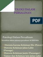 PATOLOGI DALAM PERSALINAN