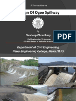 Classification of ogee spillway