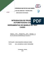 Integracion de Pruebas Automatizadas Con Herramientas de Manejo d
