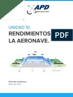10. Rendimientos de La Aeronave.