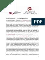 Breve Introducción a La Antropología Médica