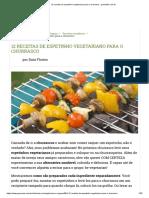 12 Receitas de Espetinho Vegetariano Para o Churrasco - GreenMe.com.Br