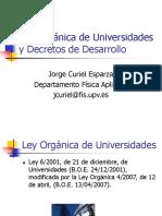 04_TRP_Ley Orgánica de Universidades y Decretos de Desarrollo.ppt
