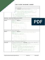 Closed profile spline filter library