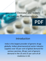 Impact of Demand and Supply Factors on Pharmaceuticals