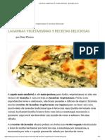 Lasanhas Vegetarianas_ 5 Receitas Deliciosas - GreenMe.com.Br