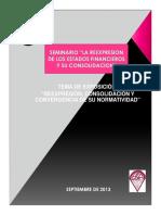 Reexpresión y Consolidación de Estados Financieros (presentación)