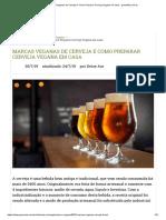Marcas Veganas de Cerveja e Como Preparar Cerveja Vegana Em Casa - GreenMe.com.Br