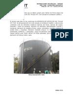Procedimiento para reparaciones internas de un tanque
