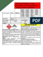 2. Etiqueta PARA FILTROS Líquidos y Lodos Contaminados Con Hidrocarburos.