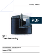 Sony Crt-01 Crt Troubleshooting Training Manual