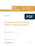 OIC in Solving Conflicts in Muslim World