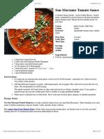 Tomato San Marzano Sauce