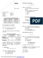 Electronics Formulas and Concepts